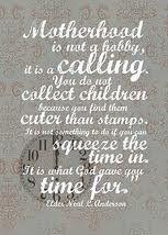 Motherhood is not a hobby.