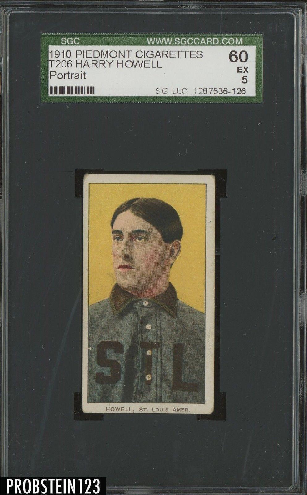 T206 Harry Howell Portrait St. Louis Piedmont 350 Subjects