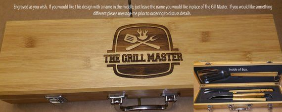 Engraved Bbq Grill Set Grill Set For Dad Personalized Gift Gift