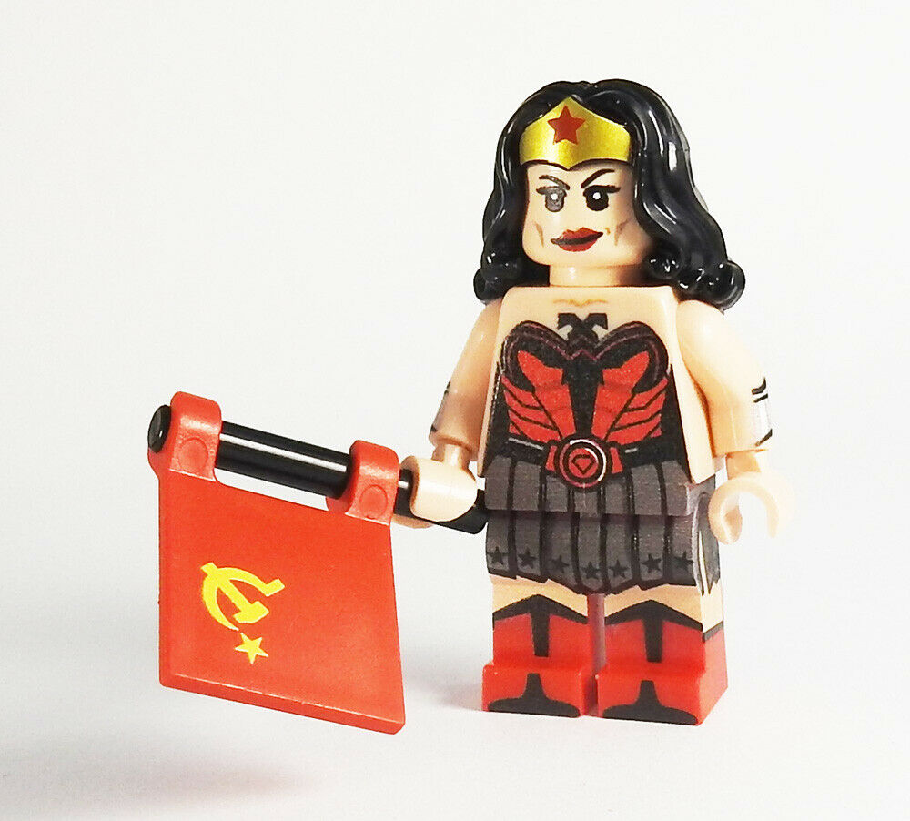 Custom Red Son Wonder Woman Dc Super Heroes Minifigures Batman On Lego Bricks Ebay Batman Wonder Woman Wonder Woman Superman Wonder Woman