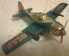 BANDAI F80 # 6021 (NyamalaTone) Tags: vintage airplane toy tin collectible flugzeug jouet avion juguete tinplate blechspielzeug