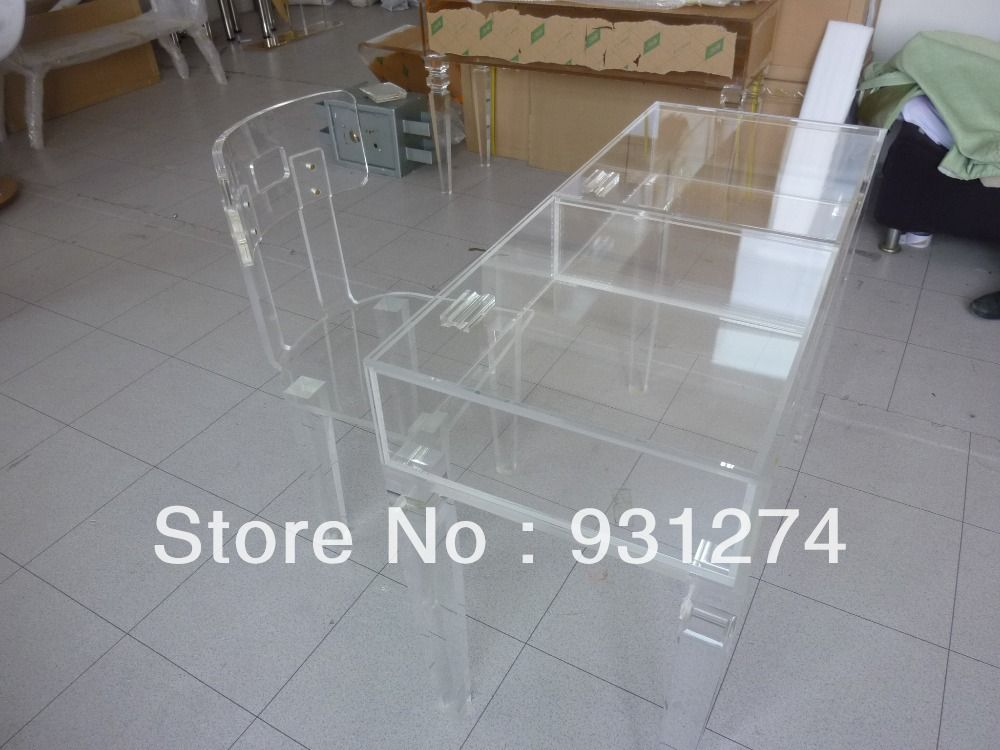 Beautiful Clear Acrylic Desk