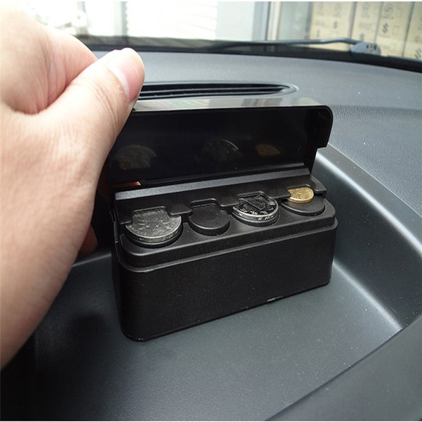Organizer Container Tidy Storage Plastic Holder Money Car Coin Case Loose Change