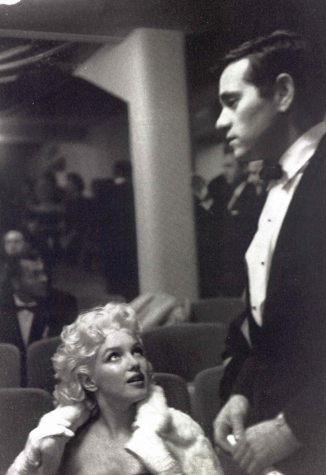 Marilyn Monroe and Milton Greene at the Broadway premiere