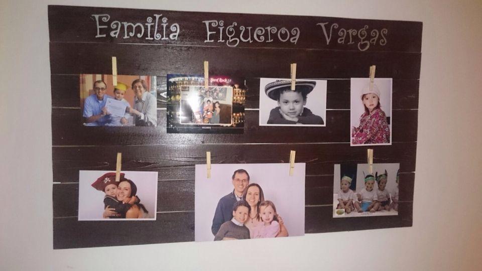 Porta retratos familiar!! Hecho con madera 100% reciclada de palets. By DecoPalets Colombia.
