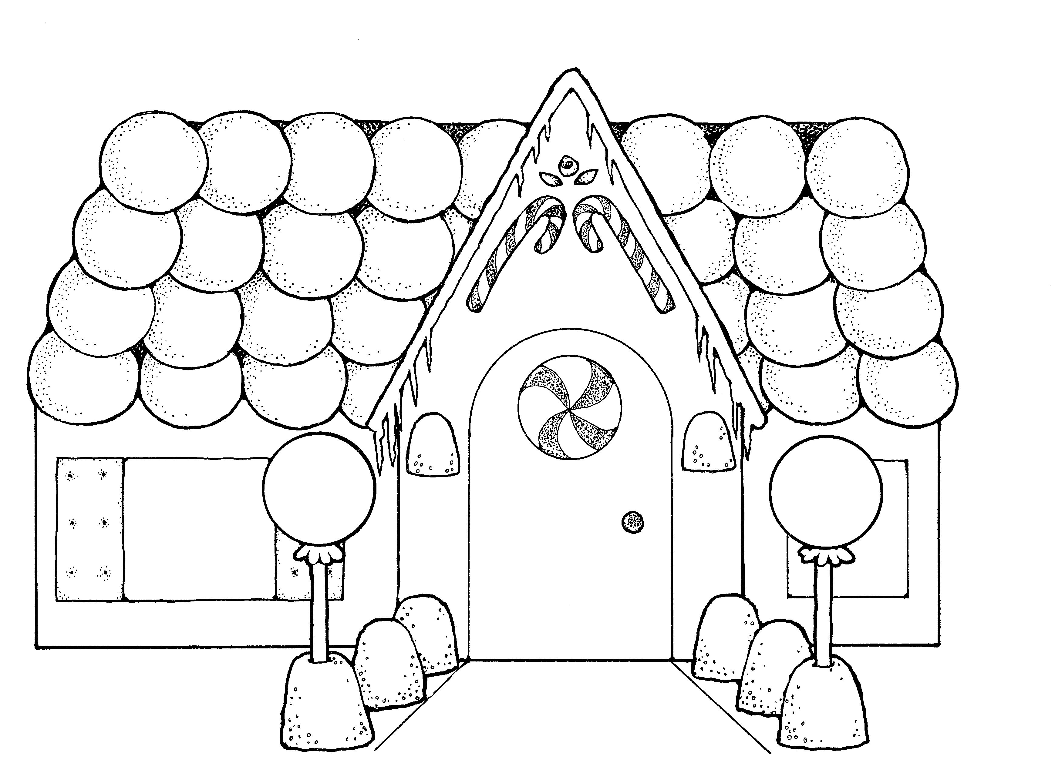 Christmas Gingerbread House Pattern Gingerbread Man Coloring Page Christmas Coloring Pages House Colouring Pages