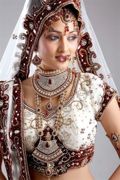 e1df8ca559 White & Maroon lehenga choli | Bridal Lehengas | Indian bridal ...