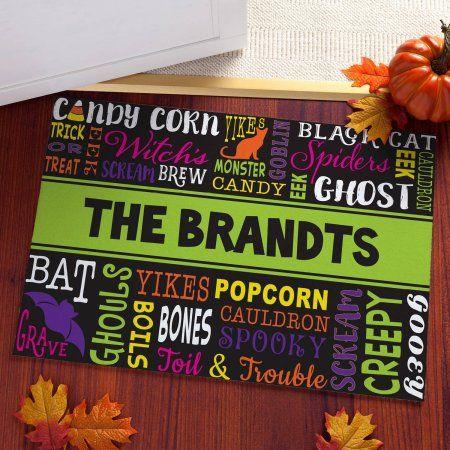 Halloween Words Personalized Doormat Pinterest Halloween words - halloween decorations at walmart