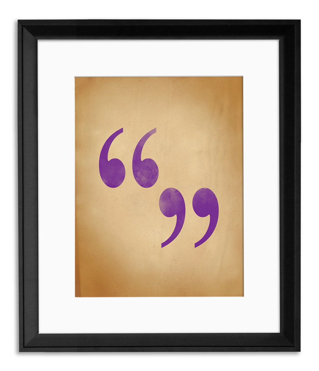 Quote Marks Writing Punctuation And Grammar Art Print