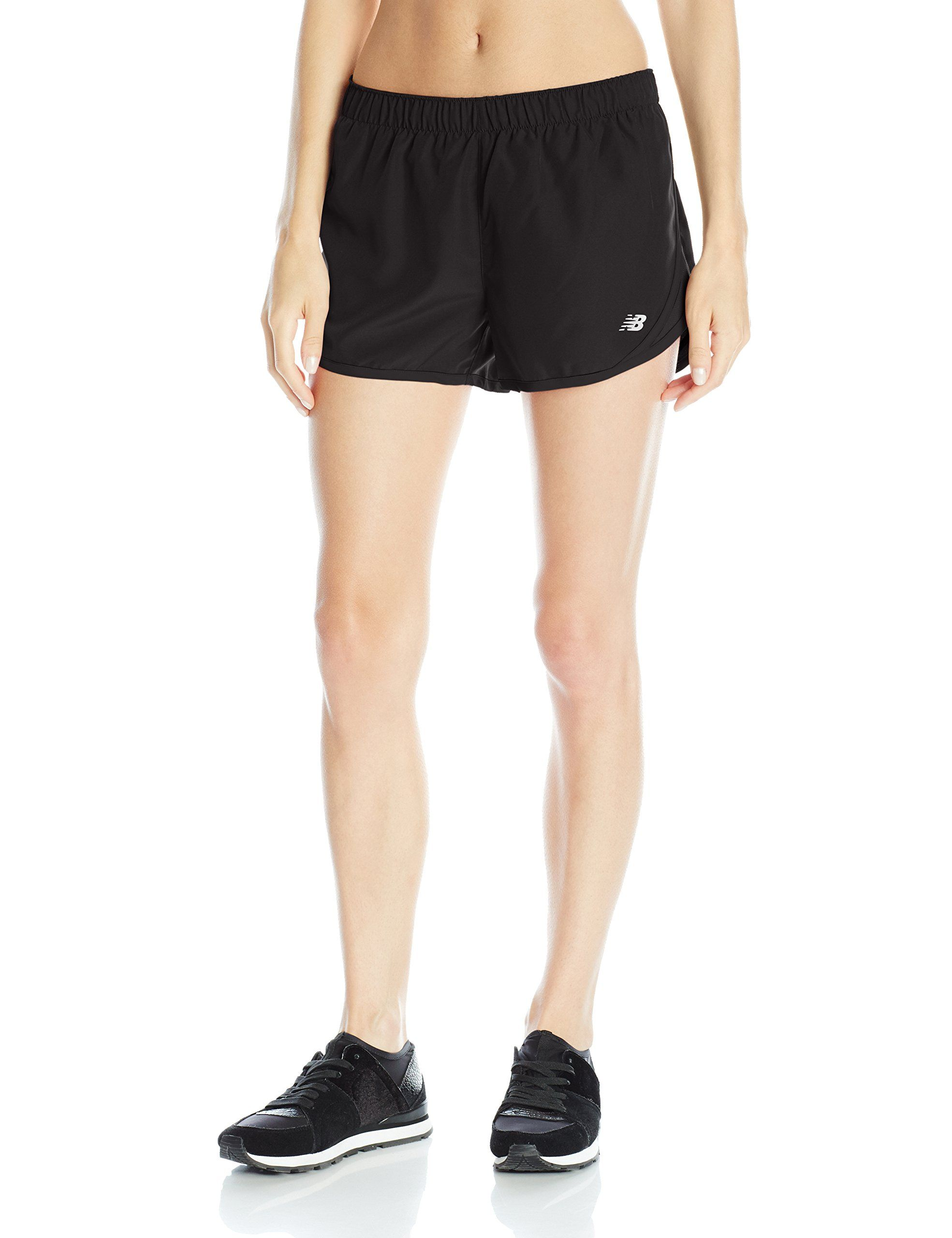 New Balance Women's Accelerate 2.5-Inch Shorts, Black, X-Large