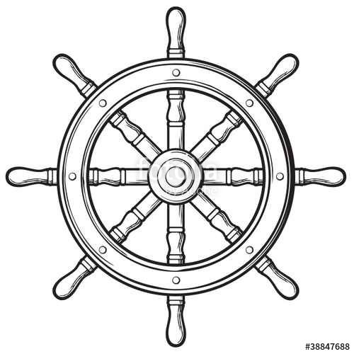Download The Royalty Free Vector Rudder Ship Wheel Designed By