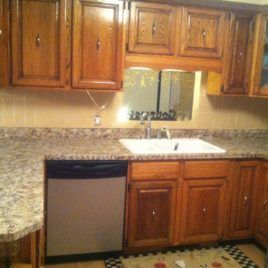 Kitchen Countertops Without Backsplash Counter Paint Replace Upper