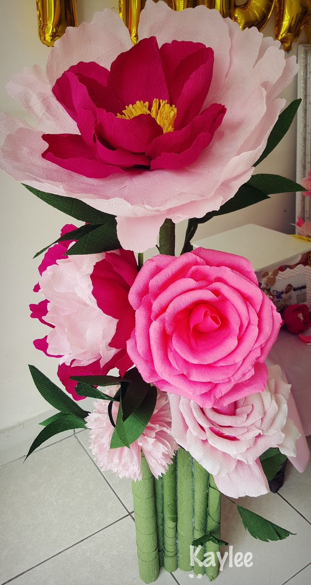 Diy Gaint Paper Flower Peony And Rose Paper Flower