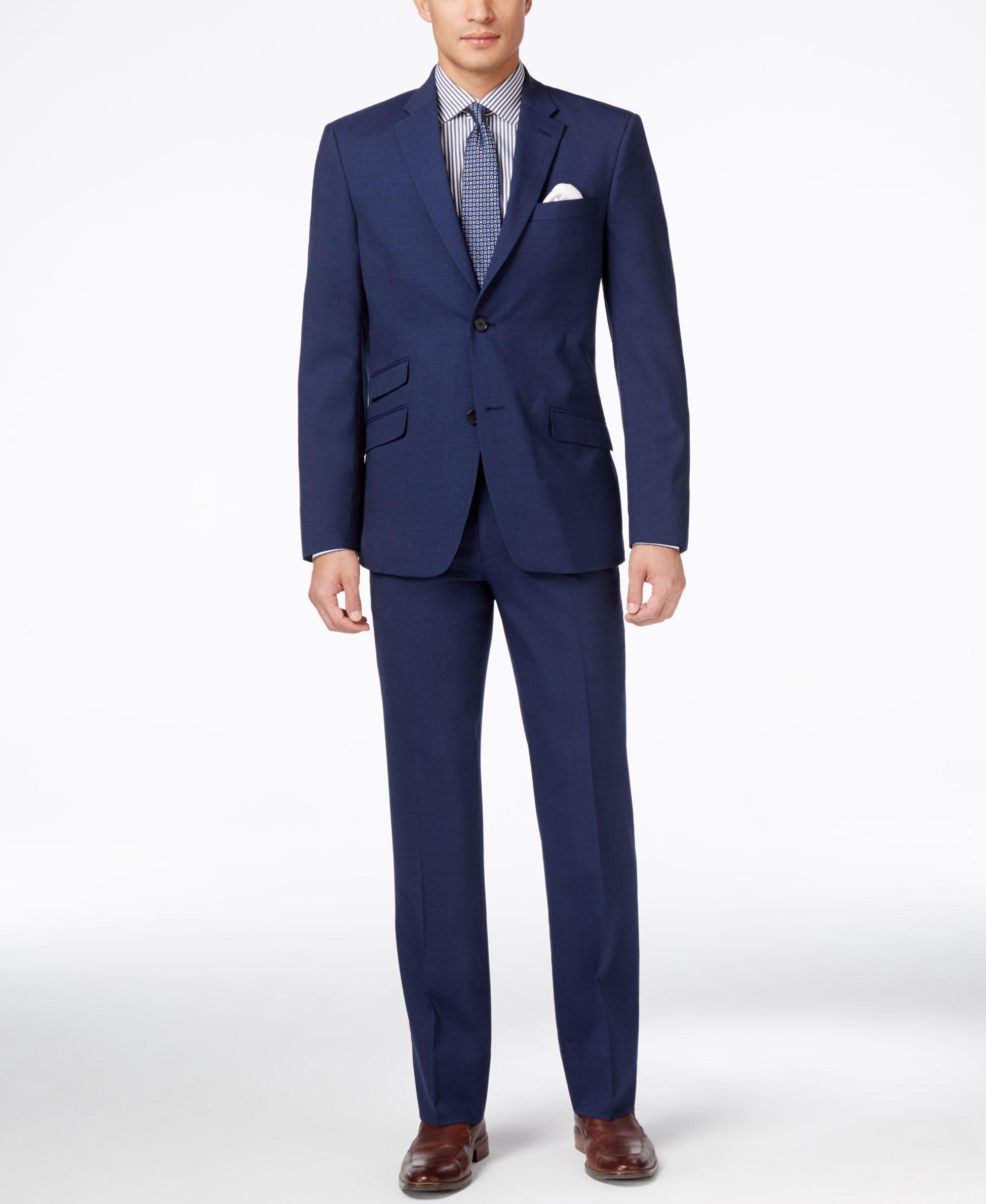634f8912dc Tommy Hilfiger Men s Blue Stretch Slim-Fit Suit Separates