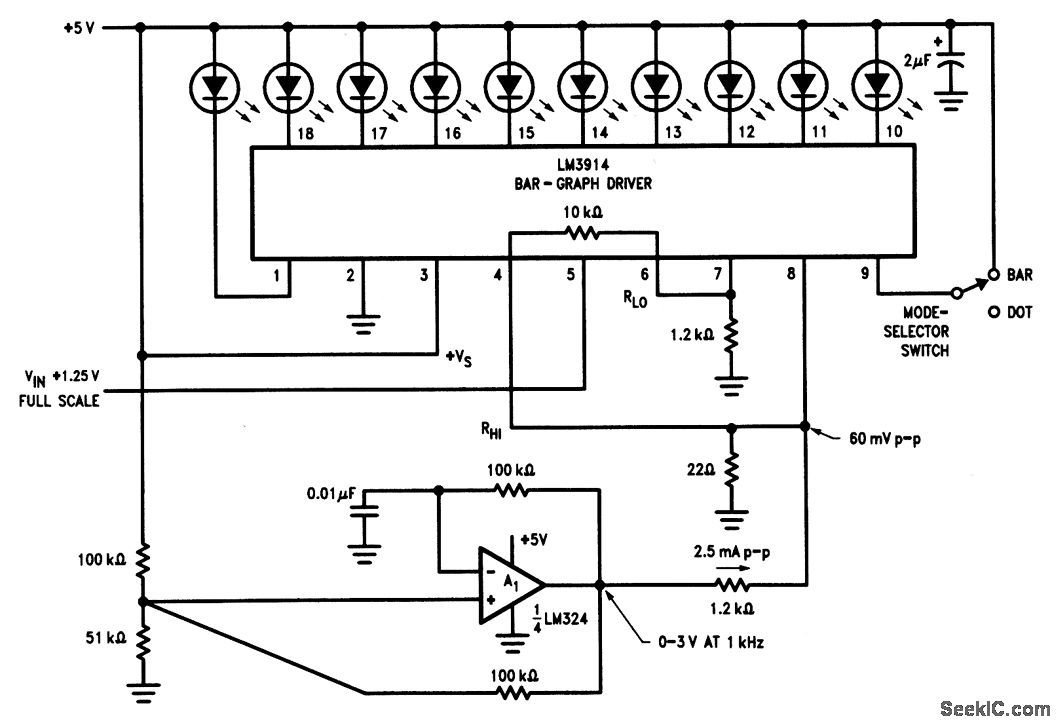 dithering bar graph display circuit diagram tradeofic com rh pinterest com