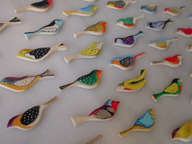 birds brooches