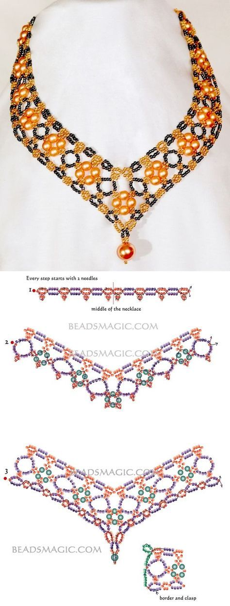 Photo of Free pattern for necklace Margaret