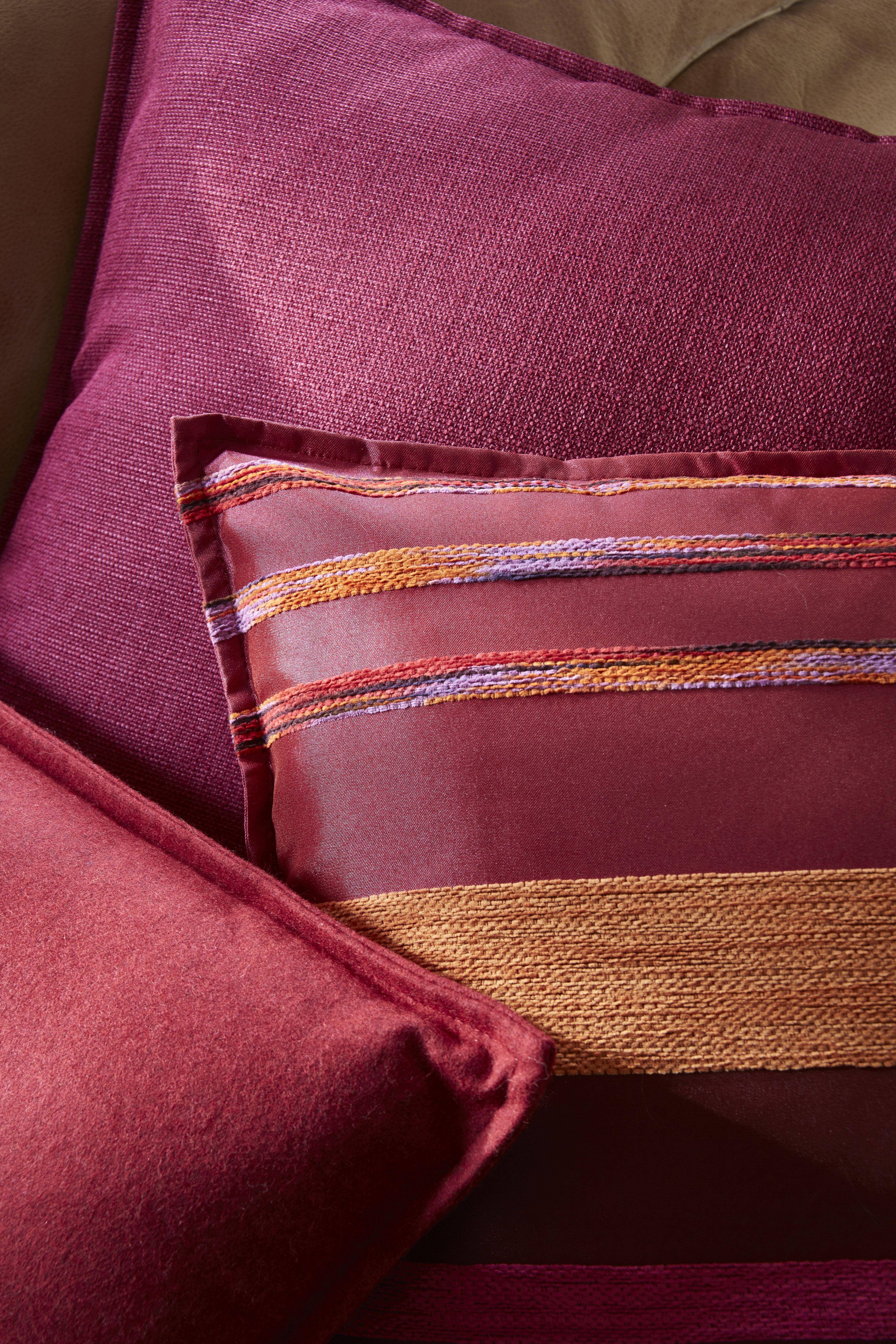 focus coussins en tissus flanelle framboise napoli fuchsia et quatro fuchsia collection heytens. Black Bedroom Furniture Sets. Home Design Ideas