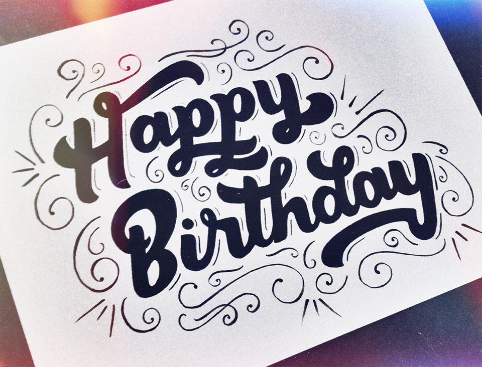 happy birthday hand lettering happy birthday lettering by leo gomez leo gomez studio 22082 | 3d21a675876c8df110b2060eae432605