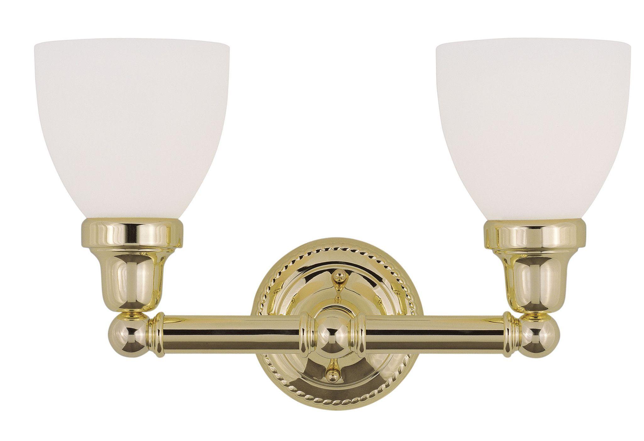 Livex Lighting Classic Polished Brass Bath Light 1022-02 | Bath ...