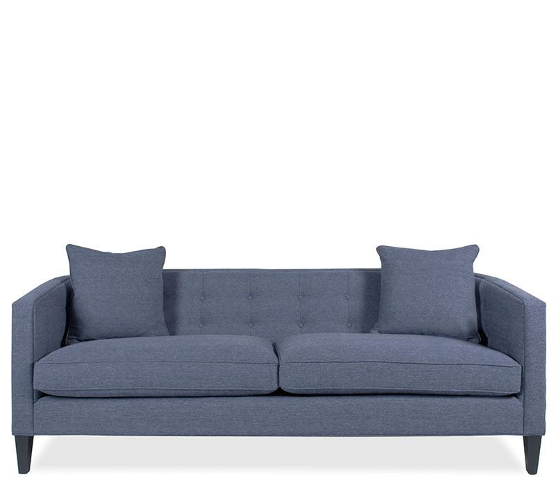 josie sofa quinn denim the josie sofa in quinn denim features matching self toss - Crypton Sofa