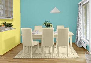 Esszimmer farbkombination die wandfarbe in frotzen gelb cashmere farbgestaltung k che - Wandfarbe cashmere ...