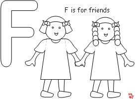 Friends Coloring Page from Making Learning Fun.   School ...