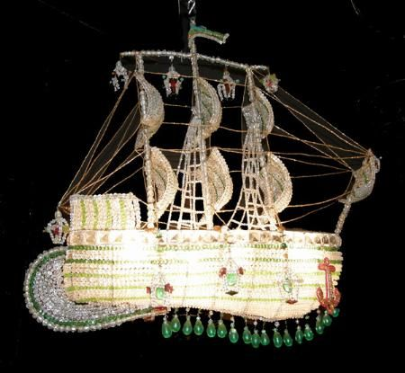 I saw a crazy fabulous antique italian crystal ship chandelier just i saw a crazy fabulous antique italian crystal ship chandelier just like this one on mozeypictures Images