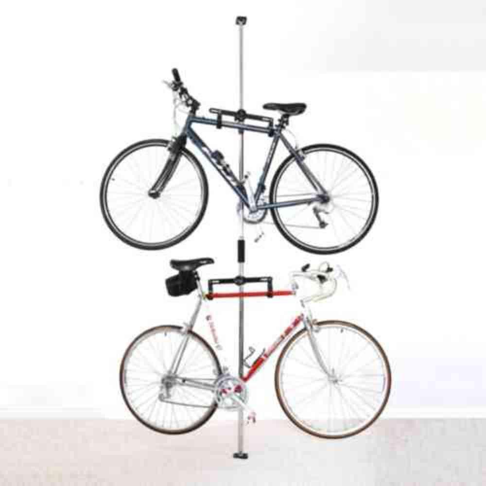 Stoneman Sports Sparehand Q Rak Ii Floor To Ceiling Freestanding Adjustable Bike Rack Storage Max Weight Limit 80 Lbs Black Dbr 9262bk Bike Storage Rack Standing Bike Rack Bike Storage