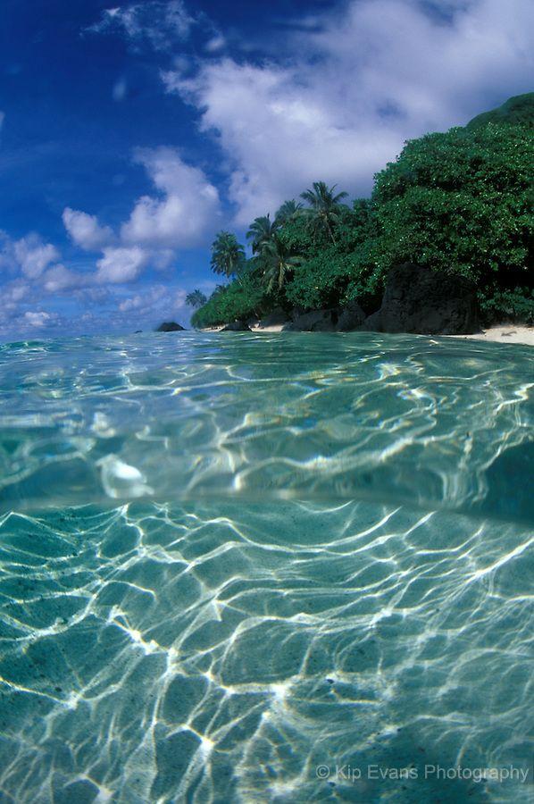Ofu Beach National Park of American Samoa on the island of Ofu