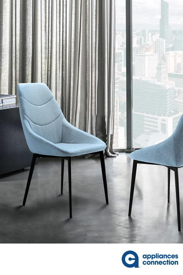 Castle Collection LCCSSIBLUE Set of 2 Dining Chairs with Bucket Seat Design, Foam Filled Cushion, Tapered Legs, Matte Black Metal Frame and Polyester Fabric Upholstery in Blue Color  #diningroom #diningroomdesign #diningroomchair #diningroomtable #tabledesign #homedesign #homedecor #homeideas #homestyle #furniture #homefurniture #diningroomfurniture #furnitureideas #furnituredecor #newhomes