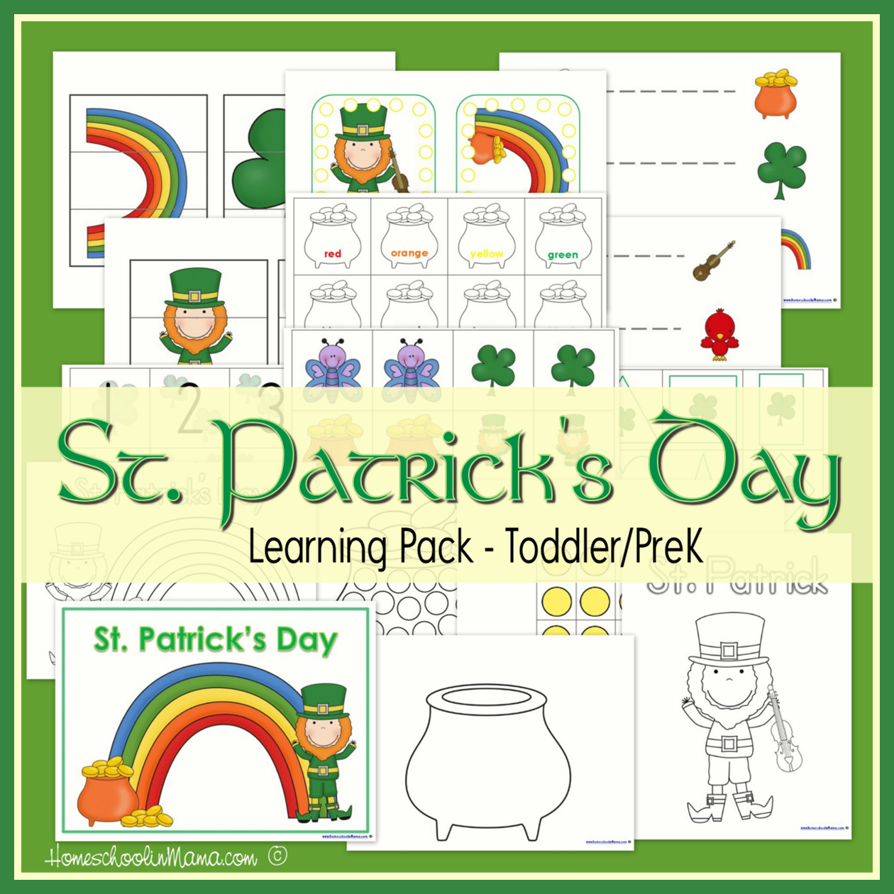 St Patrick S Day Learning Packs St Patricks Theme St Patrick S Day Crafts Printable Activities For Kids [ 1260 x 1260 Pixel ]