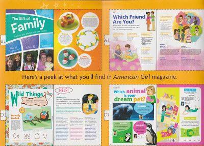 American Girl Magazine Printable Ag Diy Crafts Pinterest