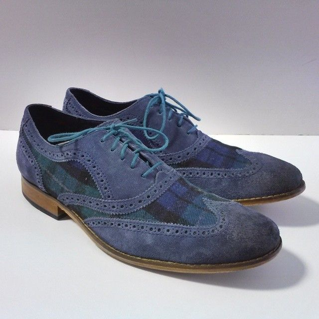 cole haan shoes blue swede lead 704767