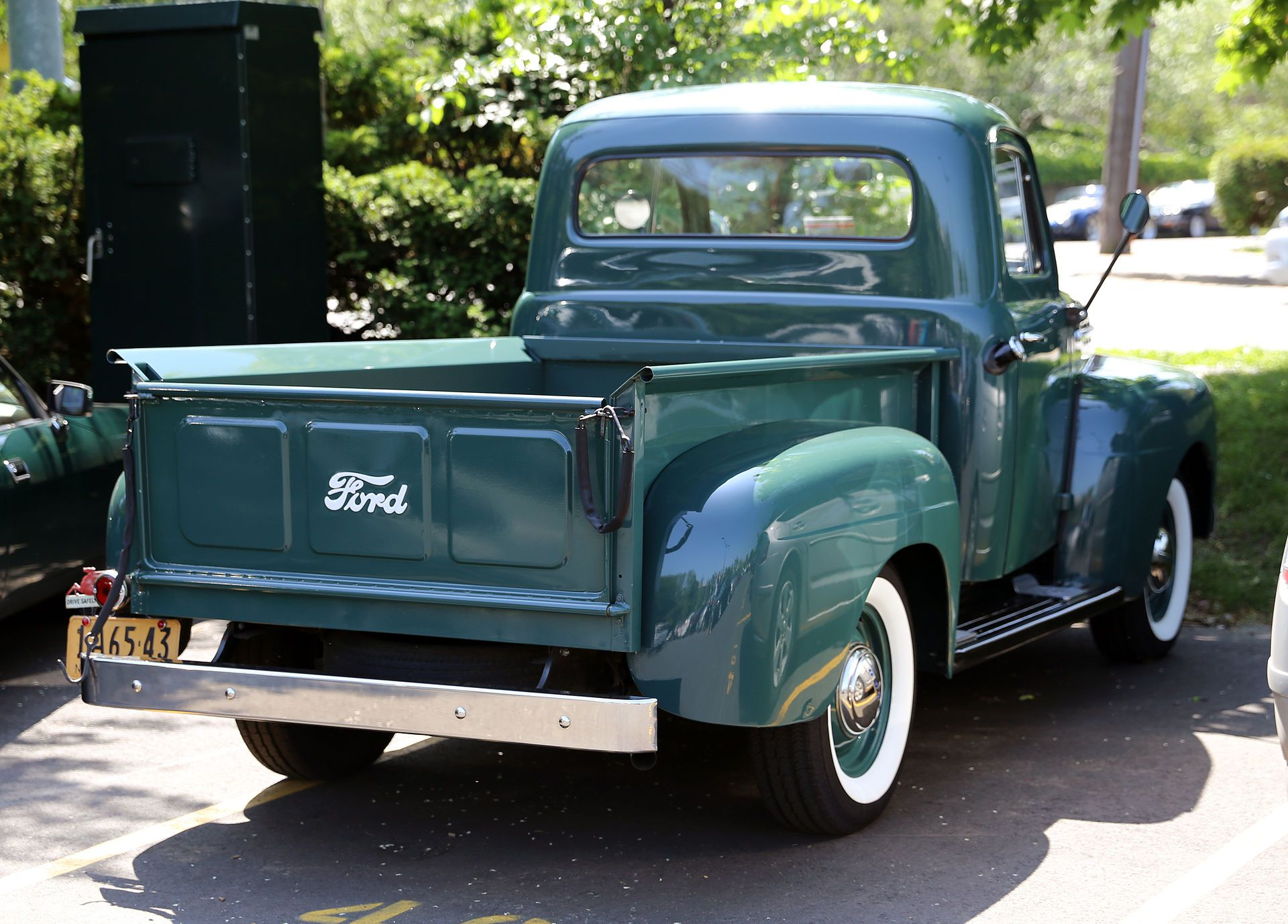 1951 Ford F Series Showing The Larger Rear Window