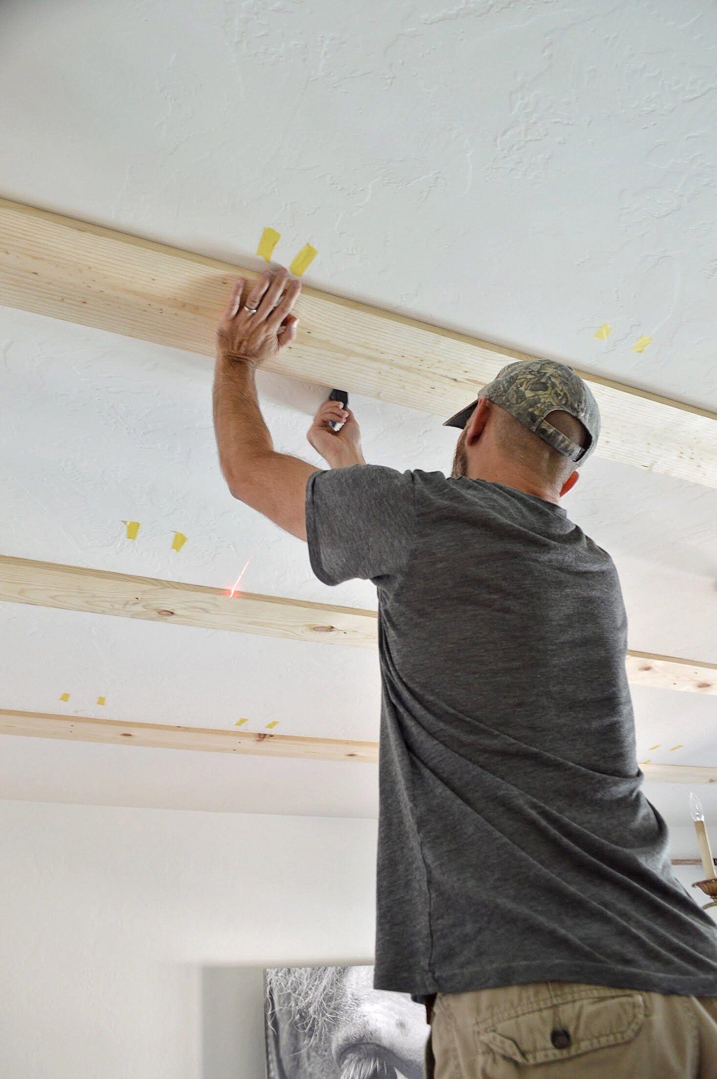 Diy faux wood beams faux wood beams wood beams wood
