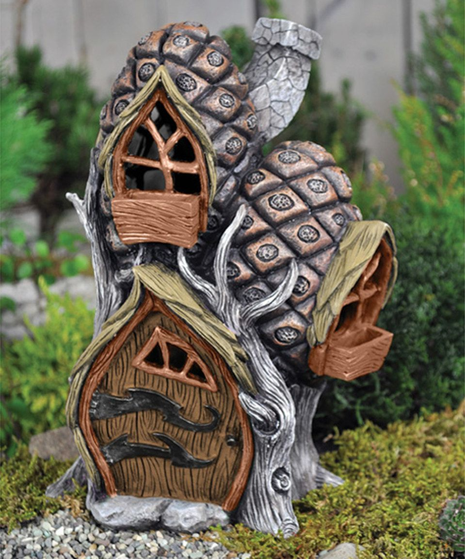 Another great find on #zulily! Pinecone House Mini Garden Figure by Georgetown Home and Garden #zulilyfinds