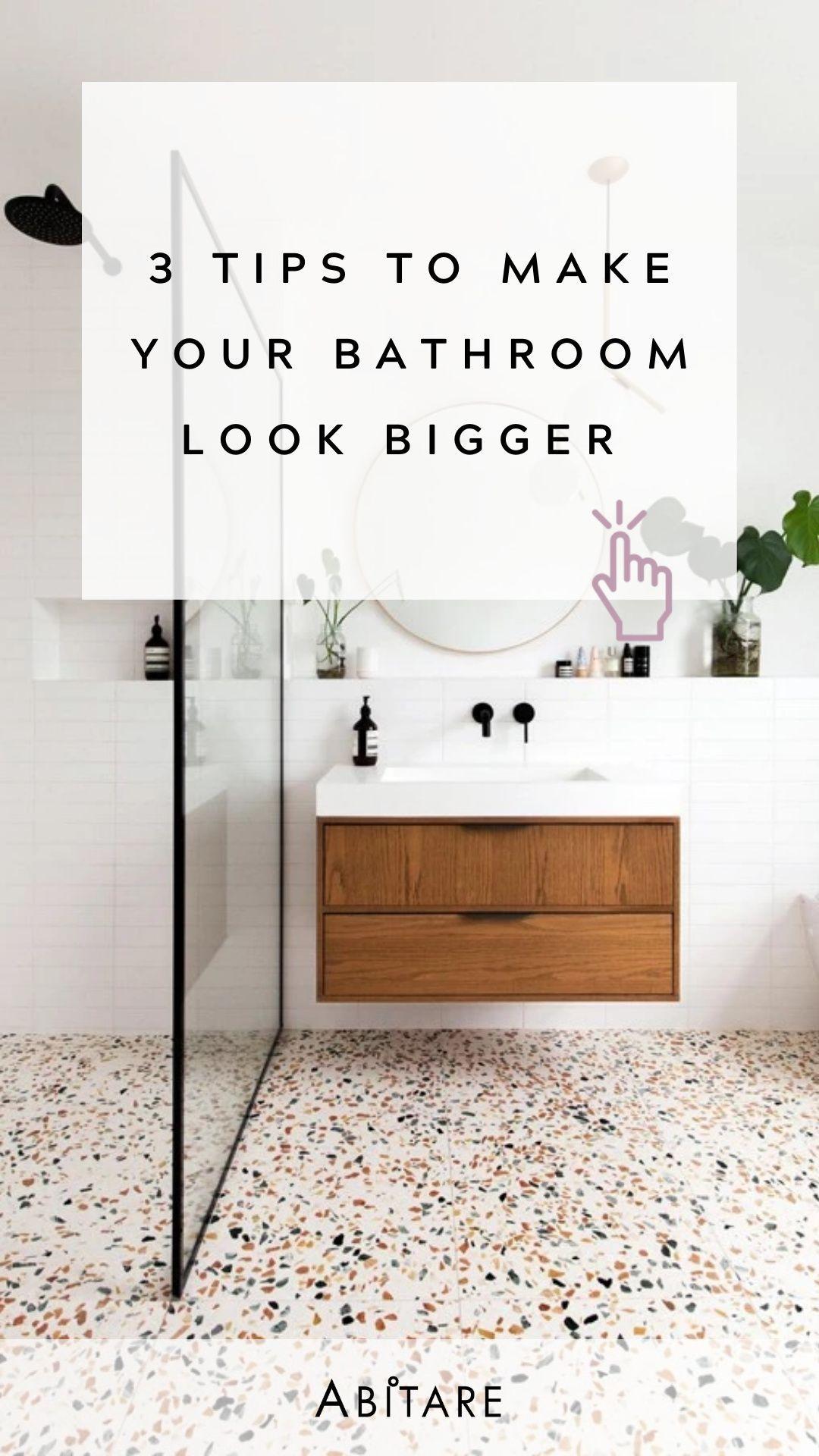 Make A Small Bathroom Look Bigger In 2020 Small Bathroom Great Interior Design Challenge Interior Design Masters