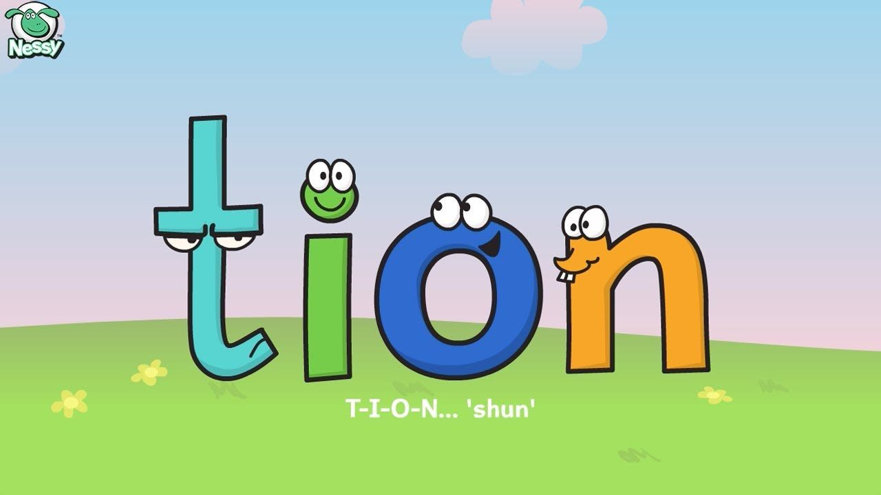 Worksheets Words Ending In Tion Worksheet nessy tion sion cian youtube pinterest phonics word cian