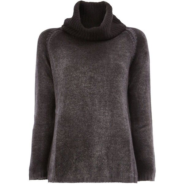 Avant Toi roll-neck jumper (€580) ❤ liked on Polyvore featuring tops, sweaters, grey, avant toi, grey sweater, cashmere tops, roll neck top and jumper top