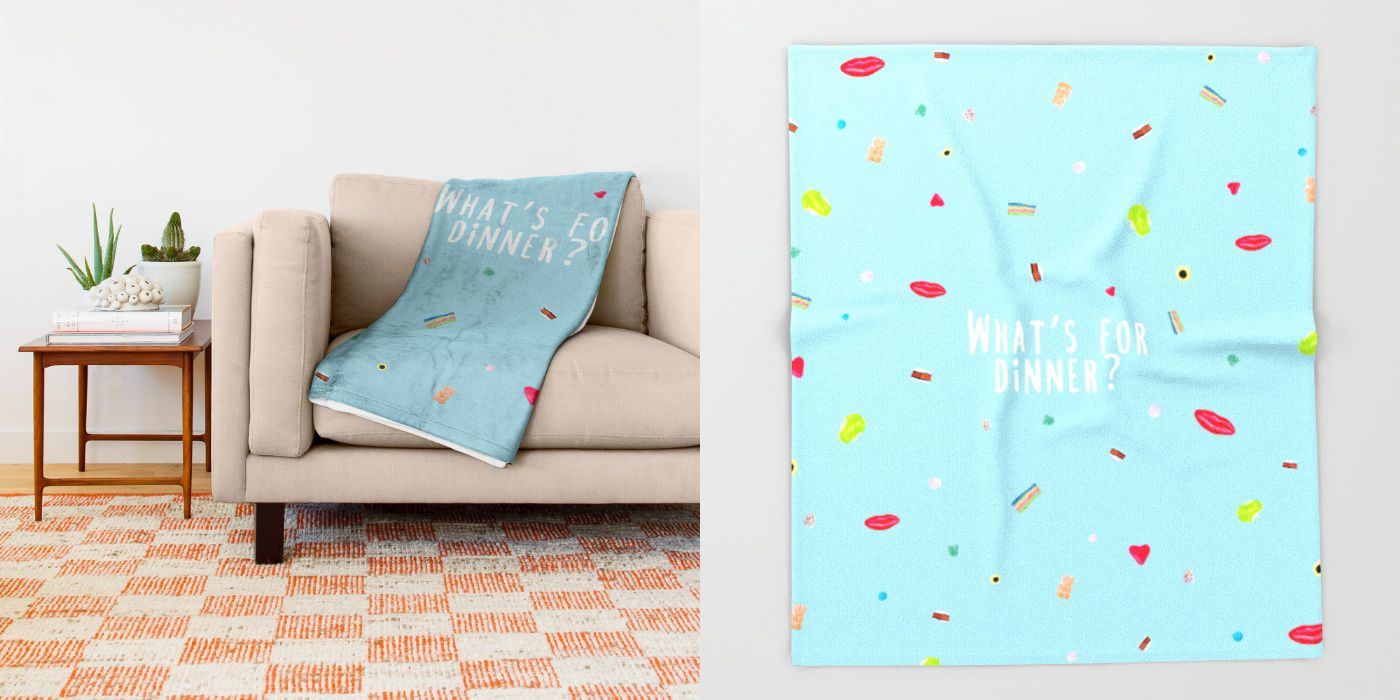 """""""WHAT'S FOR DINNER? 2 (with text)""""  $49.00  https://society6.com/product/whats-for-dinner-2-with-text_throw-blanket#64=437  MADE BY: NAOMI ROTHENGATTER - DIAZ"""