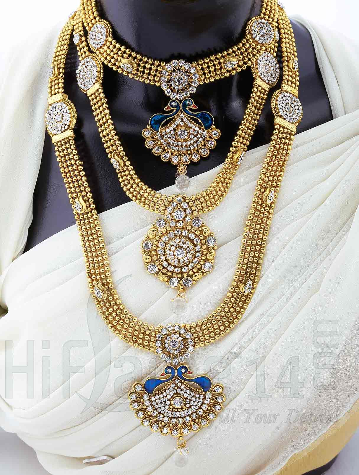Bridal Jewellery Set with Sparkling White Stones