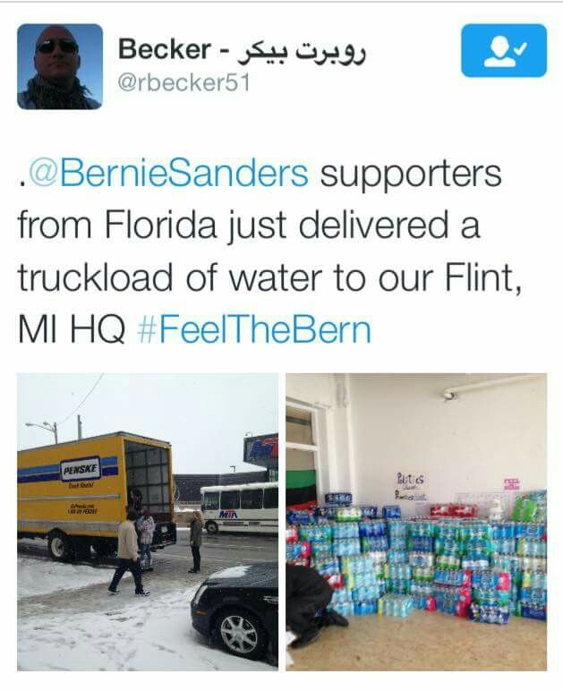 Bernie Sanders supporters, Flint, Michigan