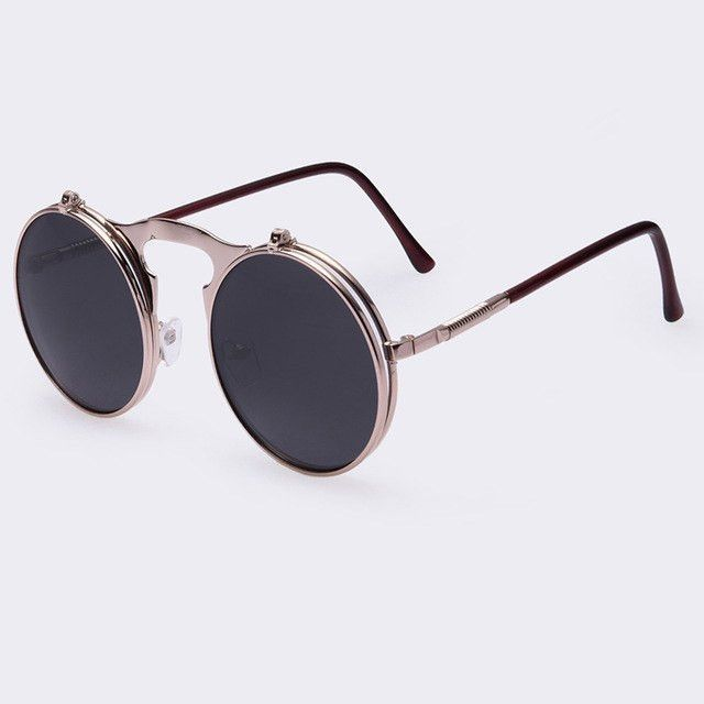 f38775a2f13d9 Eyewear Type  Sunglasses Item Type  Eyewear Frame Material  Alloy Lens  Width  4.6 cm Style  Round Lenses Optical Attribute   Photochromic
