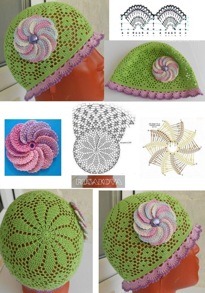 Pin de rosa samano en gorras p/niña | Pinterest | Gorros, Gorros ...