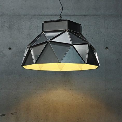 Industrial Lamp Shades Ultra Contemporary Ceiling Shade By Dark Industrial Lamp Shade Geometric Lighting Pendant Light Design
