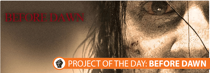 Before Dawn is a new Australian zombie #horror #film, and is Project of the Day! This gritty, no-holds barred indie features some faces you might have seen before, with Marcus Graham (Good Guys, Bad Guys, Underbelly), Samara Weaving (Home and Away, Mystery Road), and William Emmons (Break, Wrath, Hath No Man) to name a few. Check out this awesome project here: