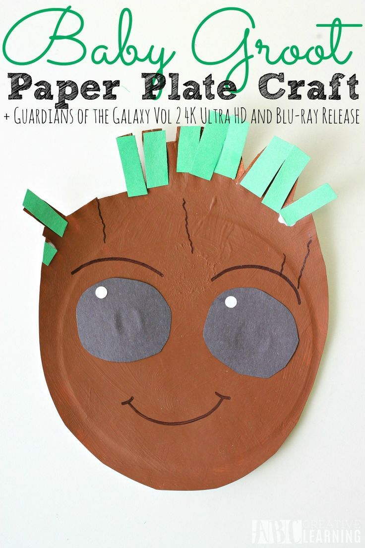 Paper Plate Baby Groot Craft | PAPER PLATE CRAFTS FOR KIDS ...