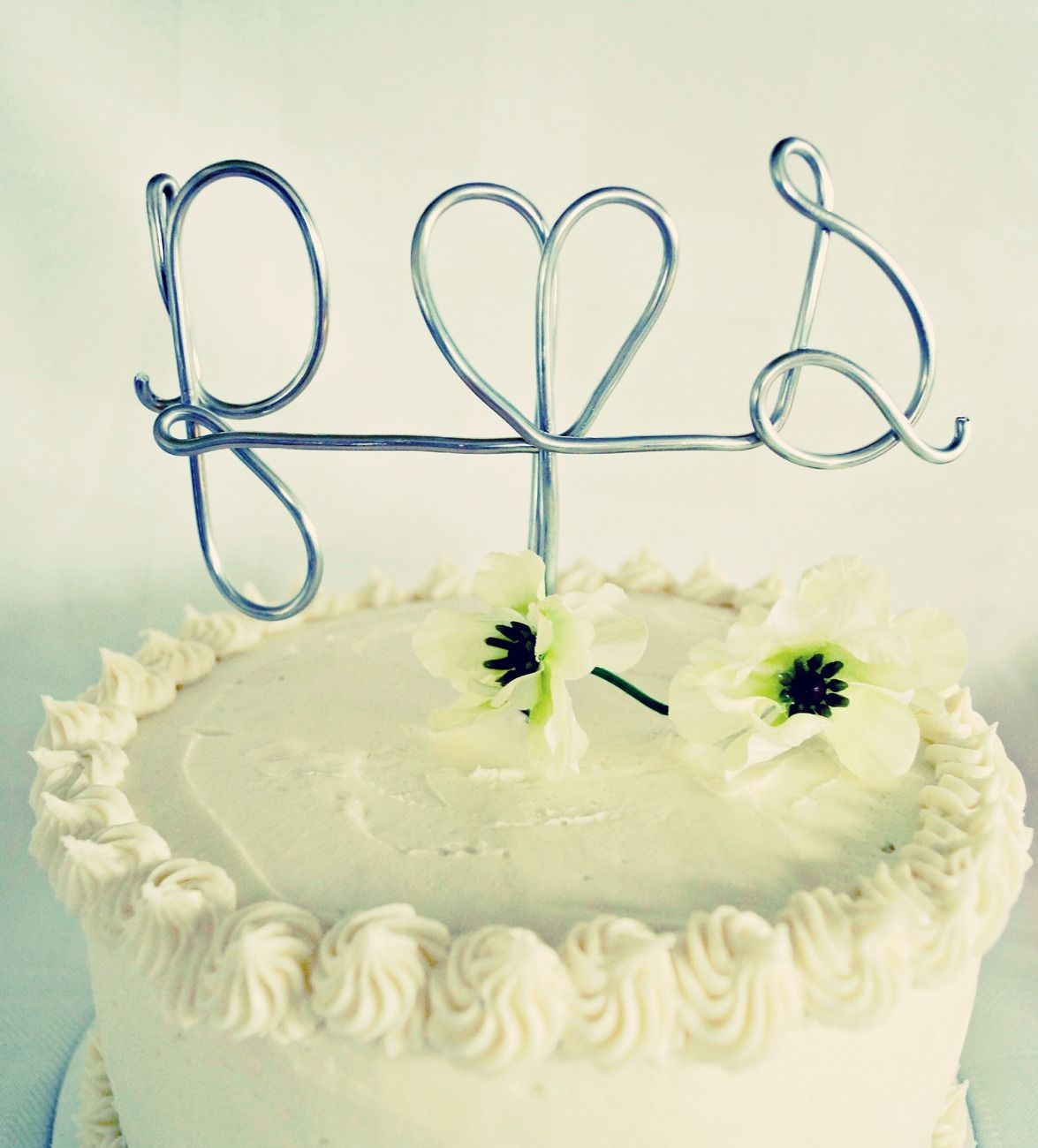 Custom Personalized Wire Wedding Cake Topper - Initials - Monogram ...