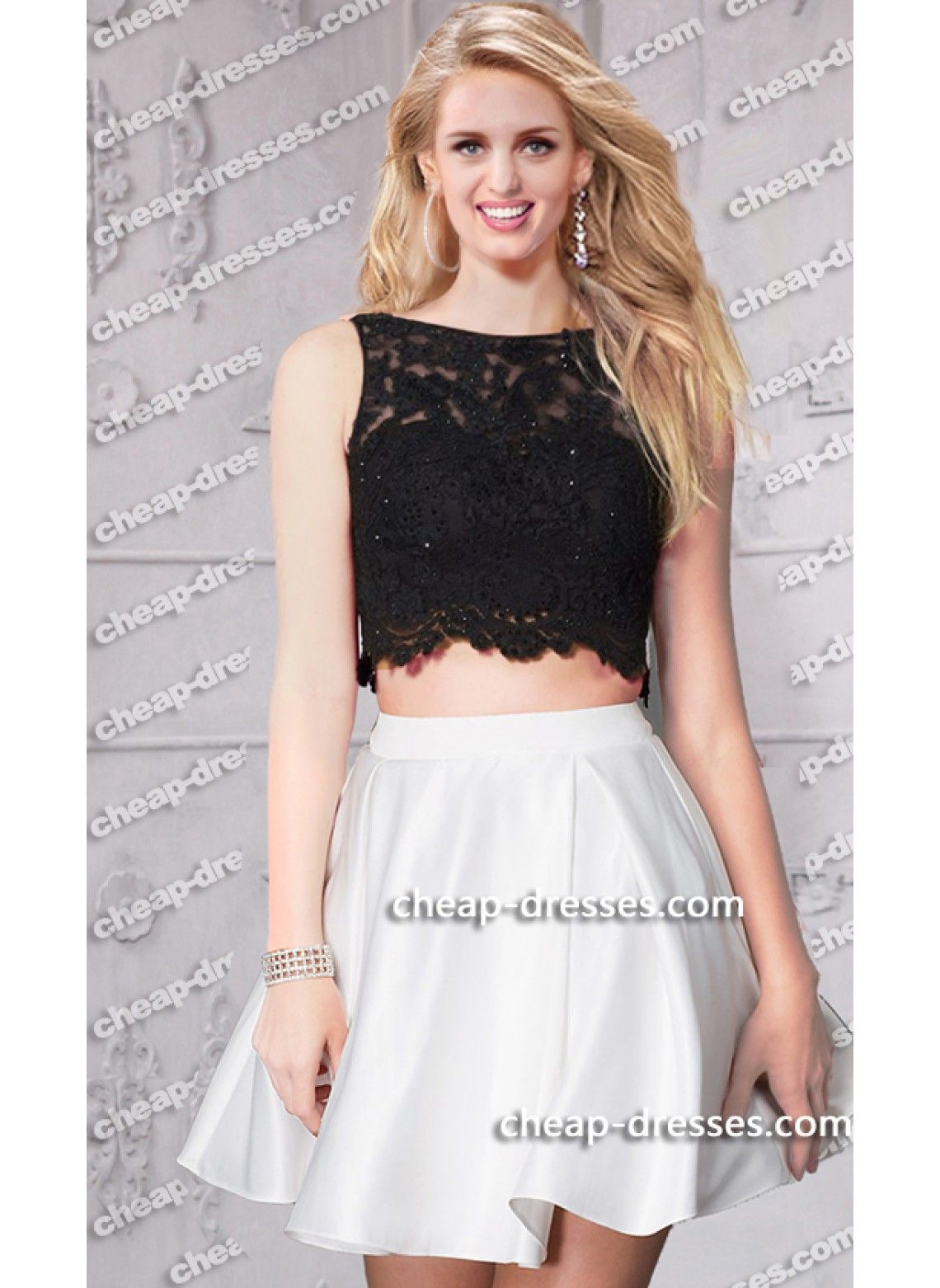 Two Tone Dress for Prom